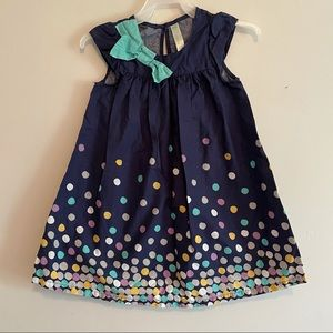 Cherokee blue polka dot dress